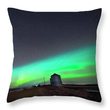 Arc Of The Aurora Throw Pillow by Dan Jurak