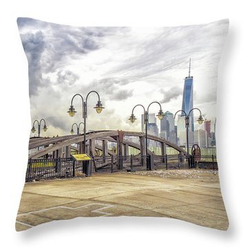 Throw Pillow featuring the photograph Arc To Freedom One Tower Image Art by Jo Ann Tomaselli