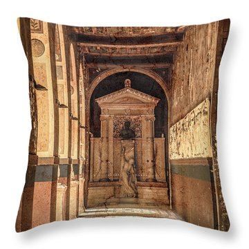 Paris, France - Arcade - L'ecole Des Beaux-arts  Throw Pillow