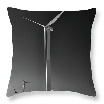 Arcade Wind Turbines 6557 Throw Pillow