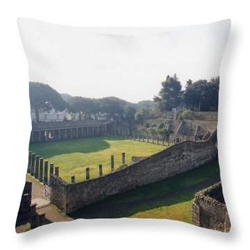 Arcaded Court Of The Gladiators Pompeii Throw Pillow by Marna Edwards Flavell