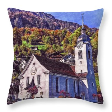 Throw Pillow featuring the photograph Arcadian Hamlet by Hanny Heim