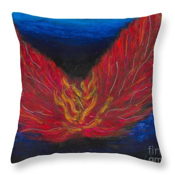 Throw Pillow featuring the painting Arch Angel Gabrielle  by Ania M Milo