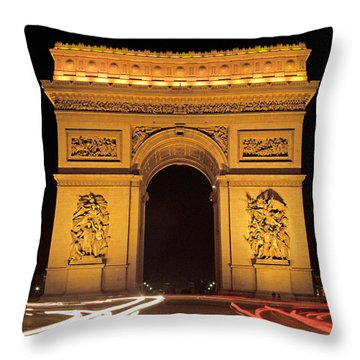 Arch De Triumphe Throw Pillow