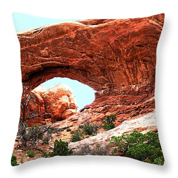 Arch Face Throw Pillow