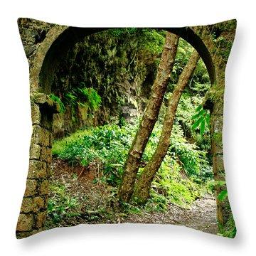 Arch Throw Pillow by Gaspar Avila