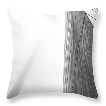 Arch In Fog Throw Pillow by Jae Mishra