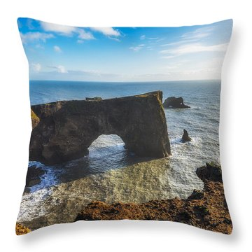 Throw Pillow featuring the photograph Arch by James Billings