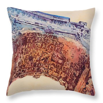 Arch Of Titus Two Throw Pillow by Jenny Armitage