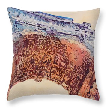 Arch Of Titus Two Throw Pillow