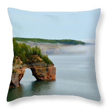 Throw Pillow featuring the photograph Arch Over Superior by SimplyCMB