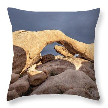 Arch Rock Panorama In Joshua Tree Throw Pillow by Joe Belanger