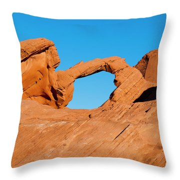 Arch Rock Throw Pillow by Rae Tucker