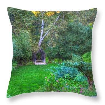 Arch Scene In The Green Throw Pillow
