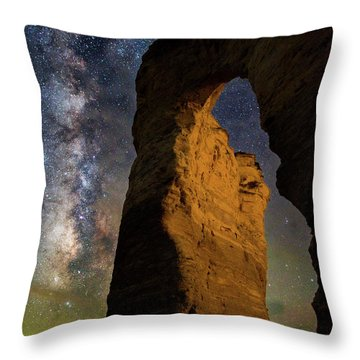 Arch Ways And Milky Ways Throw Pillow