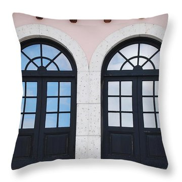 Arch Windows Throw Pillow by Rob Hans