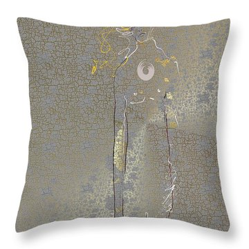 Throw Pillow featuring the mixed media Archangel Barachiel  by Larry Talley