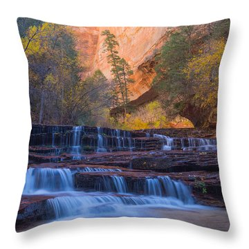 Throw Pillow featuring the photograph Archangel Falls In Autumn by Patricia Davidson
