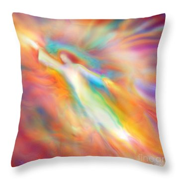 Archangel Jophiel Illuminating The Ethers Throw Pillow
