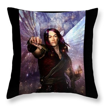 Archangel Raphael Heals Throw Pillow