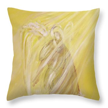 Archangel Uriel - Light Of God Throw Pillow