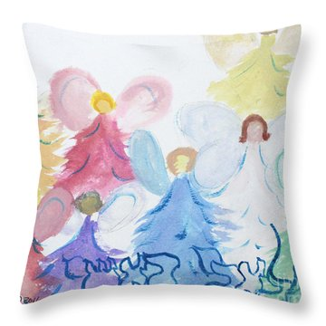 Archangels    Malchei Roshei Throw Pillow