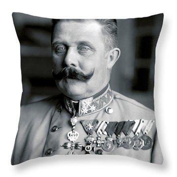 Archduke Franz Ferdinand Of Austria Portrait - 1914 Throw Pillow