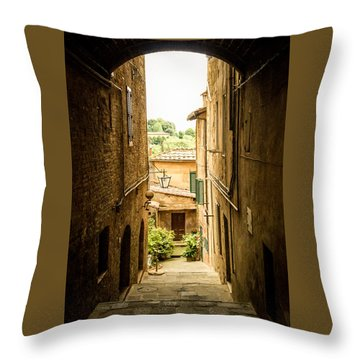 Arched Alley Throw Pillow