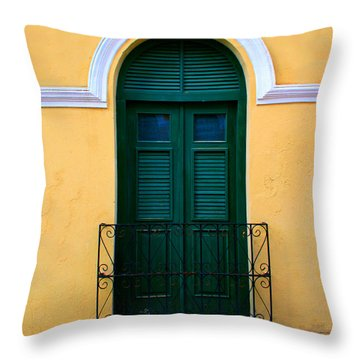 Arched Doorway Throw Pillow by Perry Webster