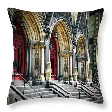 Arched Doorways Throw Pillow by Brian Wallace
