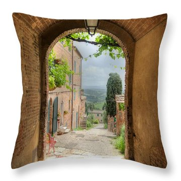 Arched View Throw Pillow