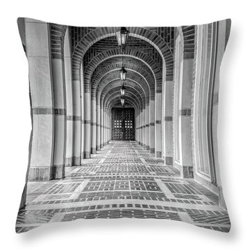 Arched Walkway Throw Pillow