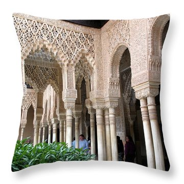 Arches And Columns Granada Throw Pillow