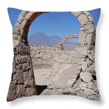 Pukara De Quitor Arches Throw Pillow