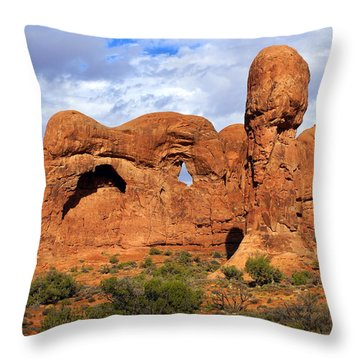 Arches National Park 8 Throw Pillow by Marty Koch