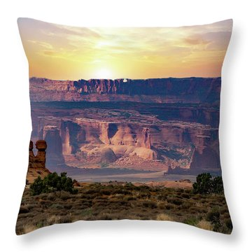 Arches National Park Canyon Throw Pillow