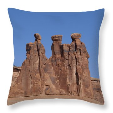 Arches National Park Throw Pillow by Cynthia Powell