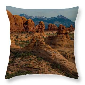 Throw Pillow featuring the photograph Arches National Park by Gary Lengyel