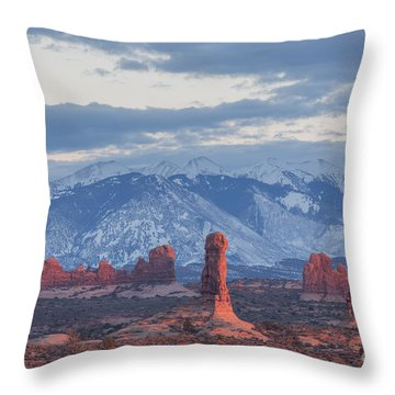 Arches National Park, Sunset Throw Pillow