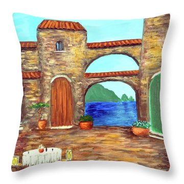 Arches Of Amalfi  Throw Pillow