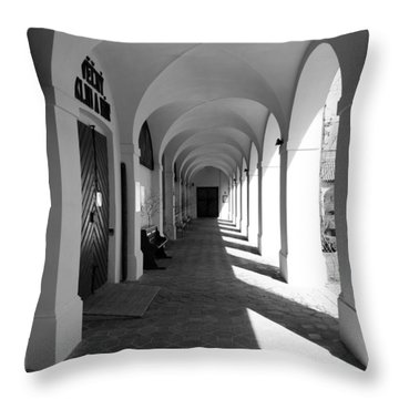 Arches Of Klokoty Throw Pillow by Rae Tucker
