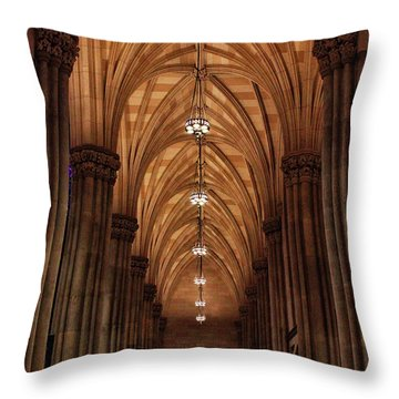 Throw Pillow featuring the photograph Arches Of St. Patrick's Cathedral by Jessica Jenney