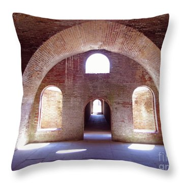 Arches Of Sunshine Throw Pillow
