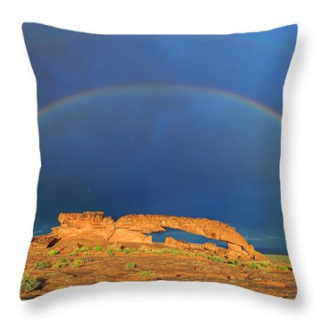 Arches Over The Arch Throw Pillow