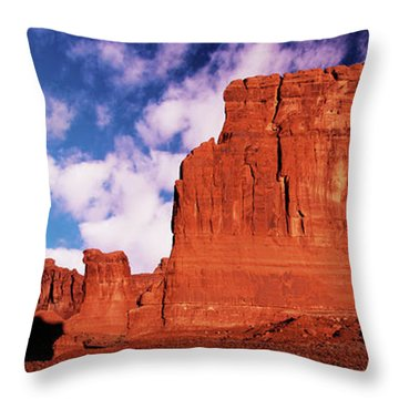 Throw Pillow featuring the photograph Arches Pano by Norman Hall