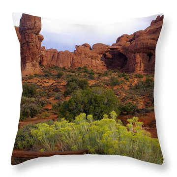 Arches Park 1 Throw Pillow by Marty Koch