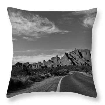 Arches Road Throw Pillow