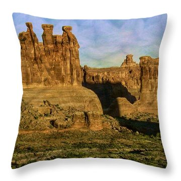 Arches Sunrise Throw Pillow