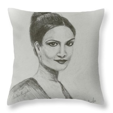Archie Panjabi Throw Pillow
