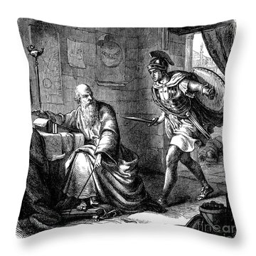 Archimedes (c287-212 B.c.) Throw Pillow by Granger